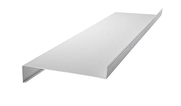 dunkelbronze Aluminium Fensterbank Zuschnitt auf Ma/ß Fensterbrett Ausladung 110 mm wei/ß anthrazit silber