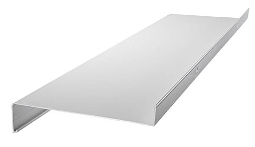 Aluminium Fensterbank Zuschnitt auf Maß Fensterbrett Ausladung 110 mm weiß, silber, dunkelbronze, anthrazit