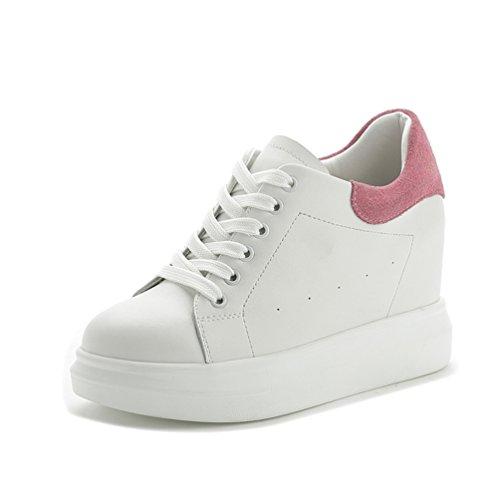 cunhas Sapatilhas De Sapatos Senhoras Das Plataforma Cunha Ocultas Calcanhar Salto Rosa S74Eq7