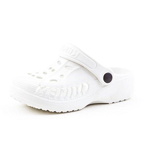 Trendige Unisex Damen Kinder Herren Garten Sommer Wasser Aqua Clogs Schuhe Weiß Kids