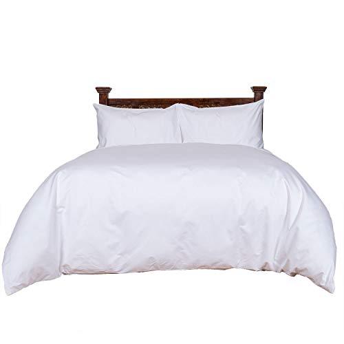 Homescapes Luxus Baumwoll-Satin Bettwäsche 155x220 cm 2 tlg weiß ägyptische Baumwolle Fadendichte 1000