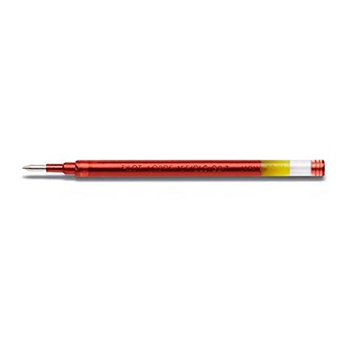 PILOT Lot de 6 Recharges BLS-G2-7 Gel pour stylo G2 / Alphagel Pte 0,7 Rouge - Refill Pilot G2 Inchiostro Gel