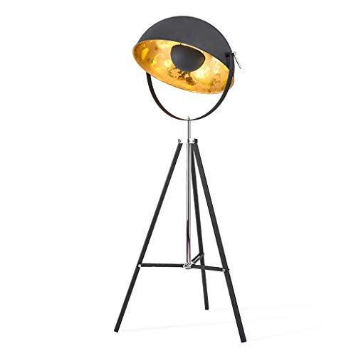 Home, Novelty Floor Light-Stehleuchte Old Tripod Stand Light Floor Uplighter - Stahl Light Stand