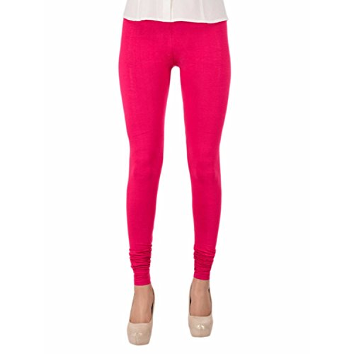 Rooliums ® (Brand Factory Outlet) Women's Premium Cotton Lycra Leggings 160 GSM Pink (Pack Of 1) - FREE SIZE