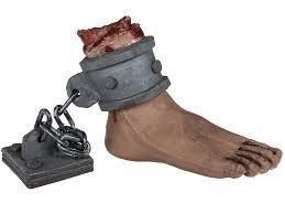 Preis am Stiel® abgetrennter Fuß - Halloween Deko