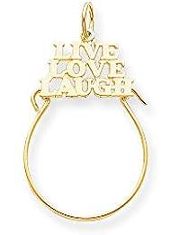 Jewels By Lux charm de chanclas de rodio para mujeres kBbJKk
