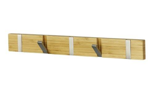 Hakenleiste aus Bambus und Aluminium