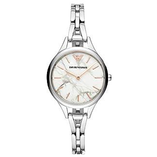 Emporio Armani Reloj Analógico para Mujer de Cuarzo con Correa en Acero Inoxidable AR11167