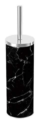 Unbekannt Home Basics WC-Bürste und Halter aus Marmor, kompakt, freistehend, dekorativ, rutschfest, stabil -