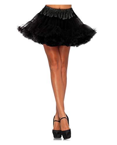Horror-Shop Schwarzer Leg Avenue 50s Petticoat für Fasching
