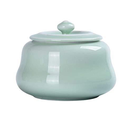 AUGAUST Le récipient de Stockage de thé en céramique est Bien scellé et Convient à Toutes Sortes de thé 800ML (Couleur : A, Taille : 800ML)