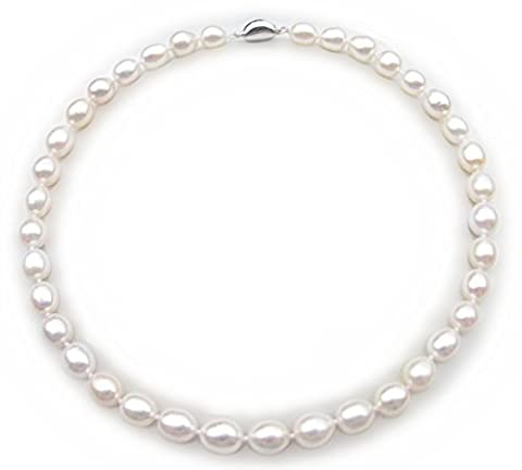 17 Inches AAA White Tear Drop Cultured Natural Freshwater Pearl