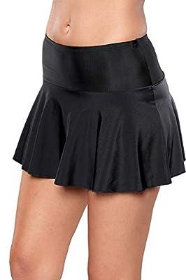 Boldgal Women's Swimwear Ruffle Swim Bottom (Black)