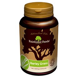 Organic New Zealand Barley Grass Capsules 500mg - 140caps