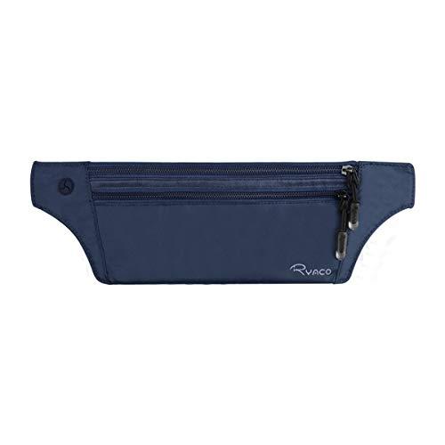 Ryaco cintura portasoldi nascosta rfid, marsupio da viaggio invisibile per uomo e donna, portadocumenti impermeabile discreto piccolo sottile nascosto per contanti, passaporti, carte e telefono