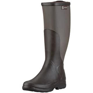 Aigle Unisex Adults' Rboot Wellington Boots, Brown (Brun/taupe), 5.5 UK