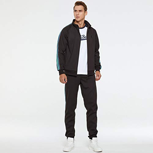 SOLELING Tuta sportiva da uomo Tuta sportiva Tuta sportiva Felpa con cappuccio Pantaloni sportivi Modello Jogger