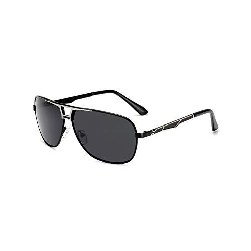 Sport-Sonnenbrillen, Vintage Sonnenbrillen, Sunglasses Männer Polarized Sun Glasses Eyewear WoMänner Eye Glasses Metal Frame HD Lens UV400 Shade Fashion Outdoor New Black Silver Frame