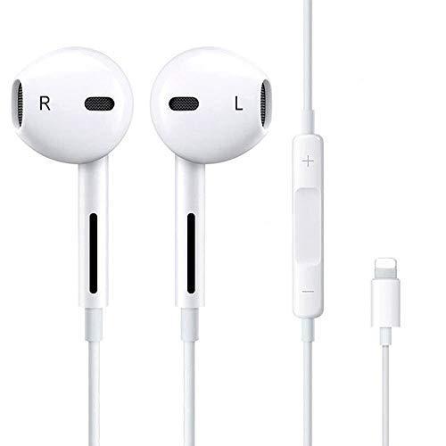 Luvfun Precision In-Ear Sport Kopfhörer, Wasserdicht Kopfhörer mit Mikrofon, Audio Stereo magnetischer Kopfhörer Langlebig,Kopfhörer für iPhone 7/7 Plus / 8/8 Plus/X/XS/XS Max - Weiß -