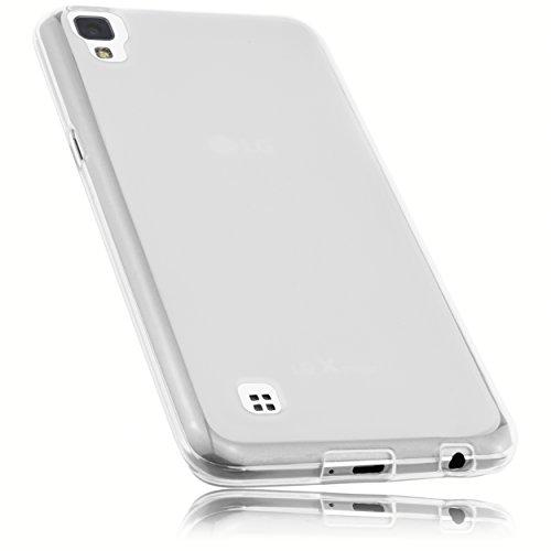 mumbi Schutzhülle für LG X Power Hülle transparent weiss
