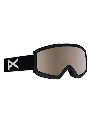 Anon helix 2.0 with spare, maschera da sci e snowboard uomo, black/silver amber, taglia unica
