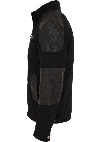 URBAN CLASSICS – Cotton/Leathermix Racer (black) – Jacke - 3