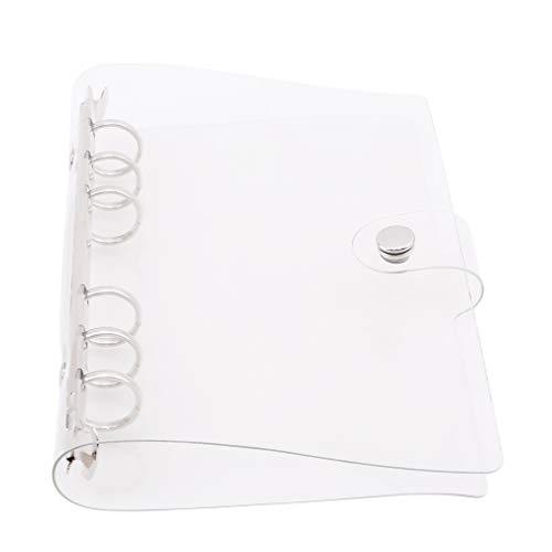 Kingus A5 A6 PVC Transparente 6 Agujeros Hoja Libro