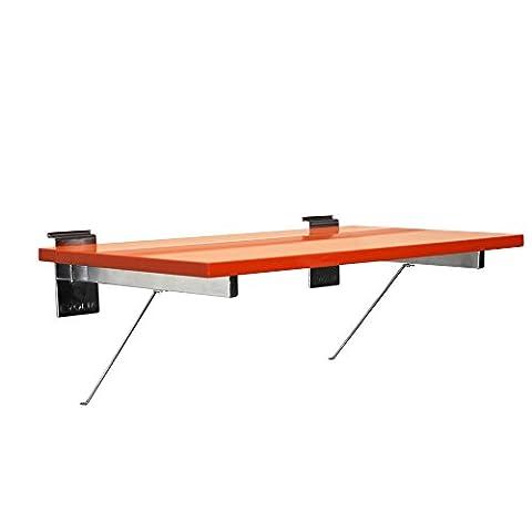 proslat 39205evolia 24Melamin Regal und unterstützt für Slatwall, orange