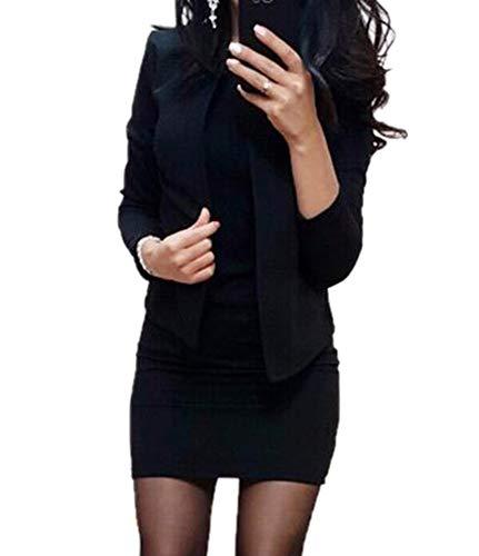 Kewing Blazer Mit Kleid Frauen Frühling Herbst Weibliche Langarm Formale Büro Elegante Frauen Jacke Anzug Minikleid Sets