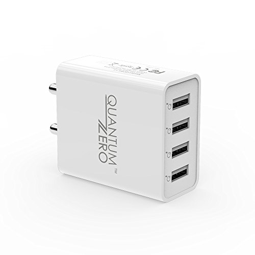 QuantumZERO Walmate USB Wall Charger Adapter for All Phones and Tablets (4 Ports 25W)