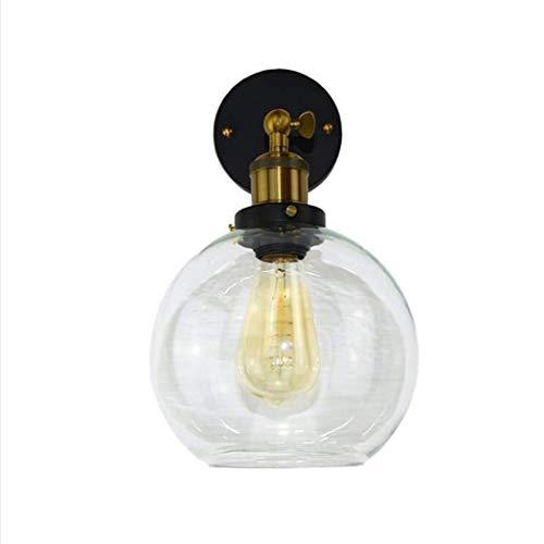 Preisvergleich Produktbild ZOUQILAI E27 Moderne Wandleuchte Einfache Glaskugel Wandleuchte Kreative Nachttischlampe Restaurant Shop Korridor Gang Wandleuchte