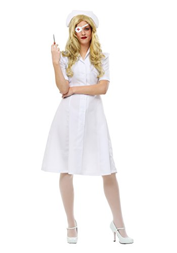 Kill Bill Elle Driver Nurse Womens Fancy dress costume Medium (Nurse Fancy Dress Kostüm)
