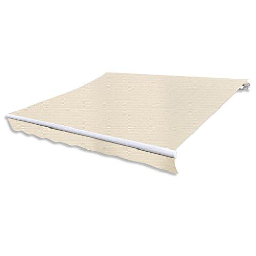vidaXL Store de 3 x 2,5 m sans Armature Crème