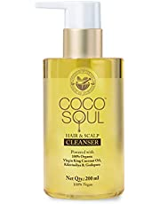 Coco Soul Hair & Scalp Shampoo With Virgin King Coconut Oil (Vegan, Sulphate & Paraben Free),200 ml