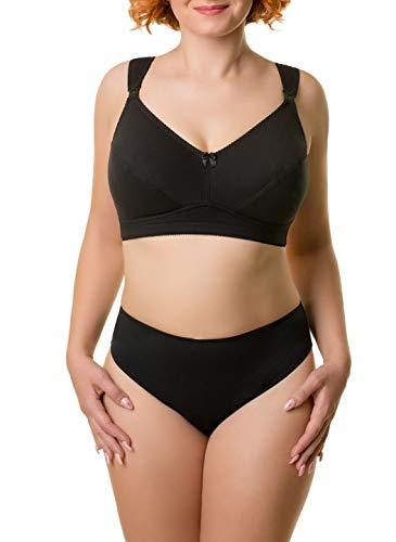 BaiBa Klassischer Schwangerschafts-/ Still-BH ohne Bügel aus Baumwolle, Größe 80J 80 J, Farbe Schwarz