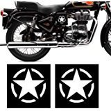 #4: Isee360 White Star Sticker For Royal Enfield,Activa,Dio