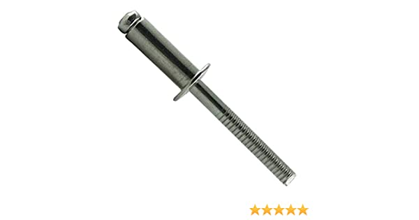 100 St/ück SC-Normteile Blindnieten mit Flachkopf - SC7337 Popnieten - DIN 7337 Form A 4,8x10 mm - Edelstahl A2 V2A