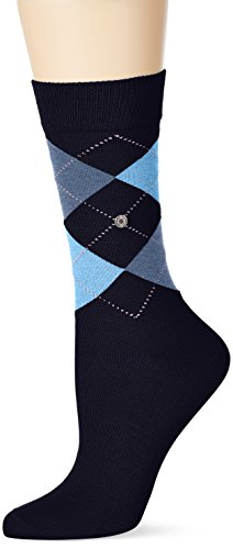 Burlington Damen Socken Covent Garden, Blau (Sailor-Black 6378), 36/41