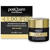Postquam - Crema Día Luxury Gold | Crema Hidratante con Acido Hialuronico y Oro Coloidal -
