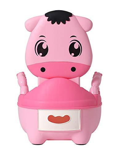 Glenmore Vasino Bambini Vasetto WC Bambina Vater Bimbi Mucca Morbido Imbottito Rosa