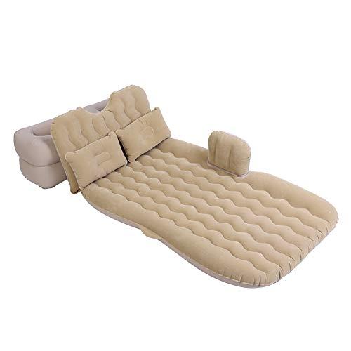 Zerone Aufblasbare Matratze, Auto-Aufblasbares Bett Auto-Luftmatratze Auto Rücksitz Luft Betten Kissen