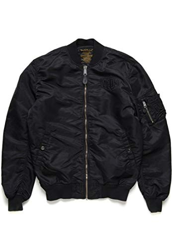 Deus ex machina Alpha Industries - MA1 Flight Jacket Black M CO_A002 Alpha Flight Jacket