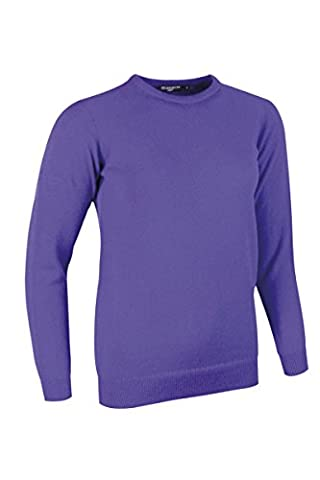 Glenmuir Ladies Crew Neck Lambswool Golf Sweater Violet M