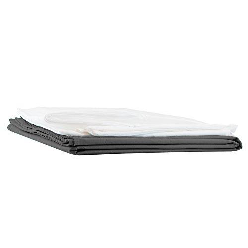 Lumaland Sitzsackhülle Ohne Füllung Luxury Riesensitzsack XXL Sitzsack Bezug Hülle PVC Polyester 140 x 180 cm Stahlgrau