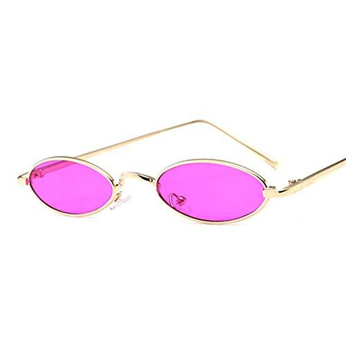TIANKON Süßigkeit färbt Frauen-kleine ovale Sonnenbrille-Metallrahmen-Art- und Weisemänner purpurrote Objektiv-Farbtöne Uv400,A4d