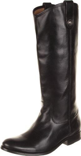 Frye Melissa Button Damen Schwarz Leder Mode-Knie hoch Stiefel Neu EU 40 (Stiefel Frauen Verkauf Frye)