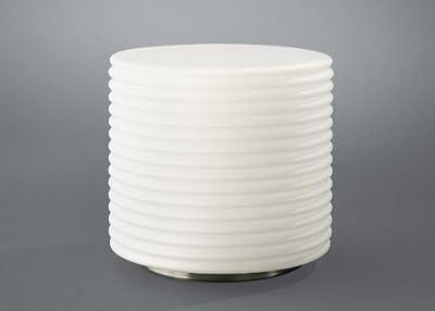 MASSIVE XXL Tischleuchte max. 100 Watt E27 Nikel matt - satiniertes Glas Energiesparlampen geeignet