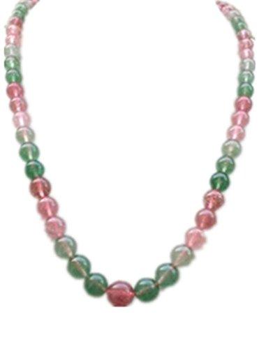 WXJ Specie di ghiaccio naturale di cristallo fragola rossa e verde perline collana di cristallo di donne europee e americane