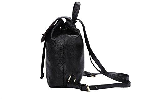 Tracolla In Pelle Ms. Borsa Zaino Moda Borse Popolare Collegio Vento Black