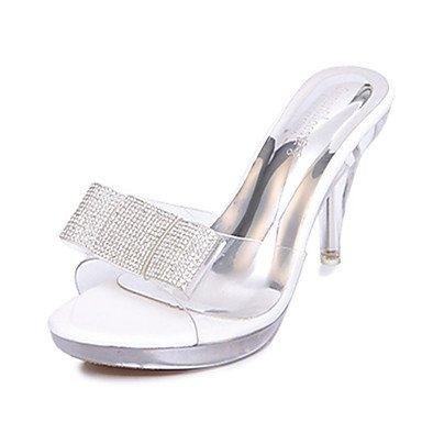 RTRY Women'S Heels Pu Confort Piscine Extérieure D''Talon Blanc Noir 2In-2 3/4 US5.5 / EU36 / UK3.5 / CN35